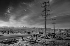 Парк ветрянки Palm Springs - КАЛИФОРНИЯ, США - 18-ОЕ МАРТА 2019 стоковое изображение rf