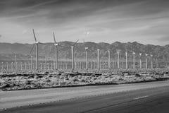 Парк ветрянки Palm Springs - КАЛИФОРНИЯ, США - 18-ОЕ МАРТА 2019 стоковые изображения