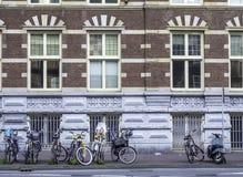 Парк велосипедов вдоль дороги Стоковое Изображение RF