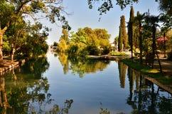 Парк взморья в новом Athos в абхазии стоковая фотография rf