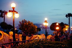 Парк влюбленности в Miraflores, Лиме - Перу Стоковое фото RF