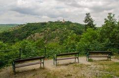Парк в городе Znojmo, чехии стоковая фотография rf