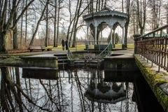 Парк в декабре, Латвия ландшафта Kemeri стоковые фотографии rf
