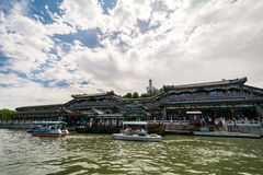 Парк в лете в Пекине, Китай Beihei стоковое фото
