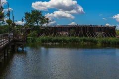 Парк в курорте стоковое изображение rf