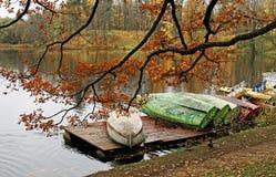 парк в октябре города хмурый Стоковая Фотография