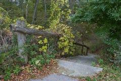 Парк в осени, Висконсин озера Milwaukee, США Стоковые Фотографии RF
