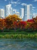 Парк в падении Стоковая Фотография RF