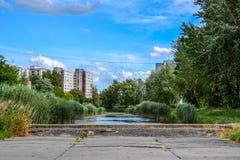 Парк в районе города Стоковое Изображение