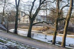Парк в Риге, Латвии стоковое изображение rf