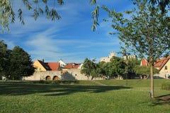 Парк в старом городке Стоковые Фотографии RF