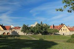 Парк в старом городке Стоковые Изображения RF