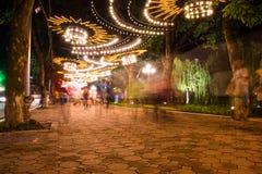 Парк в Ханое в вечере Стоковое Изображение
