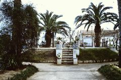 ПАРК В CASTELLON DE ЛА PLANA, ИСПАНИИ * 1965 Стоковое Изображение