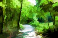 Парк в Curia Португалии Стоковое Изображение