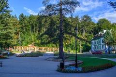 Парк в Iwonicz, Польше Стоковая Фотография RF
