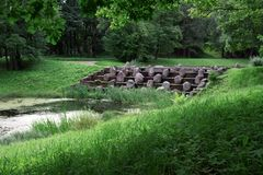 Парк в Tsarskoye Selo Pushkin, Санкт-Петербурге, России Стоковое Фото