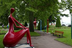 Парк в vian-les-Bains ‰ Ã стоковые фото