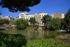 Парк города Барселоны стоковые изображения rf