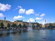 Парк 2 города бассейна зеркала Стоковое Фото