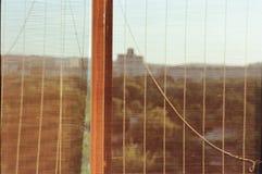 Парк города в окне Стоковое Изображение