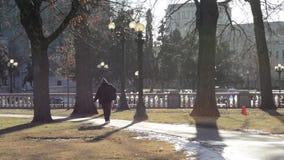 Парк города в после полудня акции видеоматериалы