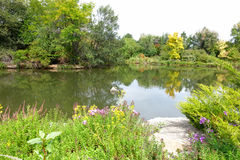 Парк города в Boise, Айдахо Стоковая Фотография