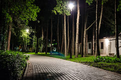 Парк города на ноче Стоковое Фото