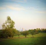 парк города осени Стоковые Фото