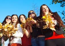 парк группы девушок Стоковое Изображение