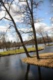 Парк дворца в Gatchina Стоковое фото RF