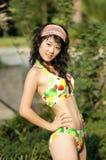 парк девушки бикини Стоковые Фото