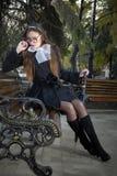 парк девушки Стоковые Фотографии RF