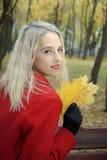 парк девушки Стоковая Фотография RF