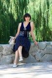 парк девушки Стоковое фото RF