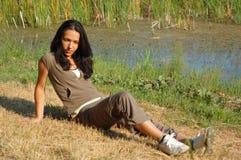парк девушки Стоковые Изображения