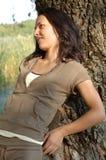 парк девушки Стоковое Изображение RF
