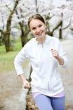 парк девушки jogging Стоковое фото RF