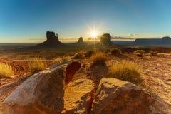 Парк долины памятника племенной, Аризона, США Стоковое фото RF