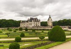 Парк замка Chenonceau стоковое фото