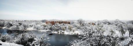 Парк зимы Украины Стоковое Изображение