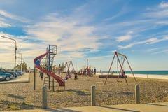 Парк игр детей, Caleta Olivia, Аргентина Стоковая Фотография RF
