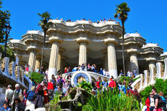 парк Испания guell barcelona Стоковое Фото