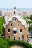 парк Испания guell barcelona Стоковая Фотография RF