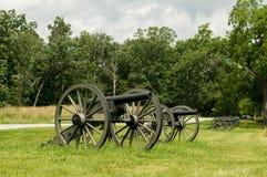 Парк исторической строки артиллерии карамболя исторический Стоковое Изображение