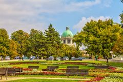 Парк и купол парламента Стоковые Изображения RF