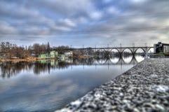 Парк и мост Стоковая Фотография