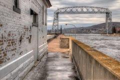 Парк канала популярное туристское назначение в Дулуте, Минесоте на Lake Superior стоковые фотографии rf