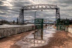 Парк канала популярное туристское назначение в Дулуте, Минесоте на Lake Superior стоковые изображения rf