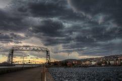 Парк канала популярное туристское назначение в Дулуте, Минесоте на Lake Superior стоковое изображение rf